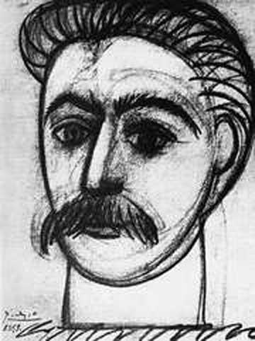 Portrait der Staline par Pablo Picasso. Fusain, 8 mars 1953