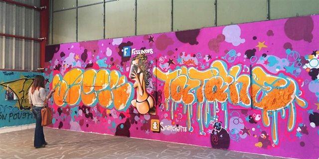 Galerie T§T, Steek et Tatane, mural
