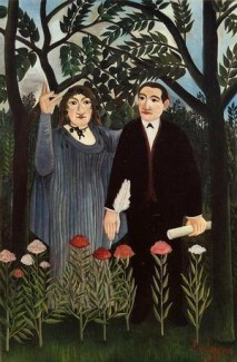 Douanier Rousseau (1909) - La muse inspirant le poète (Marie Laurencin et Guillaume Apollinaire)