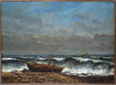 La vague, Courbet, Gustave ou Jean Désiré Gustave