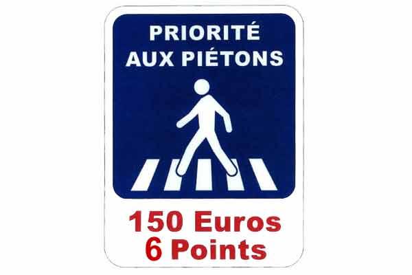 Non respect de la priorité aux piétons : 6 points de permis de conduire(...)