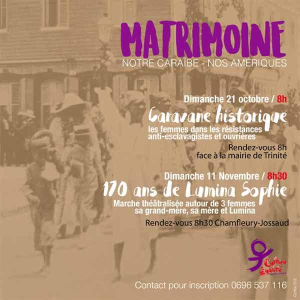 Les manifestations autour du matrimoine de la Martinique